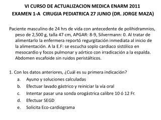 VI CURSO DE ACTUALIZACION MEDICA ENARM 2011