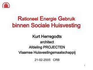 Rationeel Energie Gebruik binnen Sociale Huisvesting