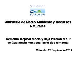 Ministerio  de  Medio Ambiente  y  Recursos Naturales