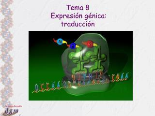 Tema 8  Expresi n g nica:  traducci n