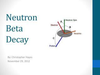 Neutron Beta Decay