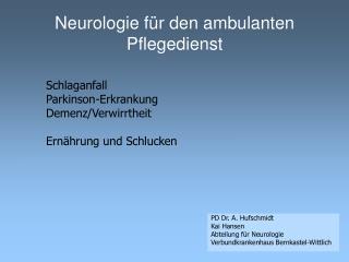 Neurologie f r den ambulanten Pflegedienst