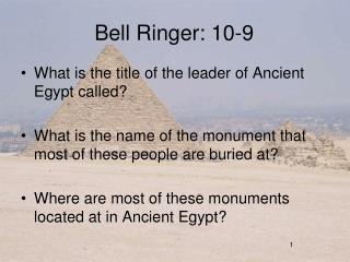 Bell Ringer: 10-9