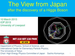10 March 2013 IOP 2013   University of Liverpool Department of Physics, School of Science, and