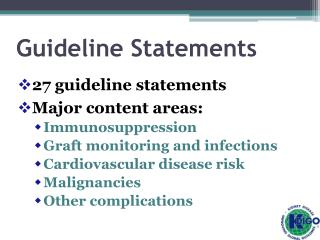 Guideline Statements