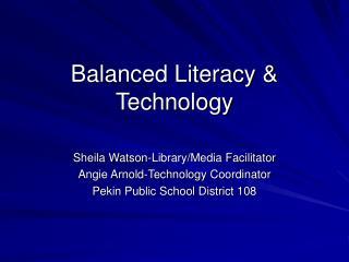 Balanced Literacy  Technology