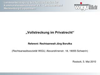 Landesarbeitstagung des Fachverbandes der Kommunalkassenverwalter e.V. - Landesverband Mecklenburg-Vorpommern