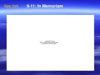 9-11: In Memoriam