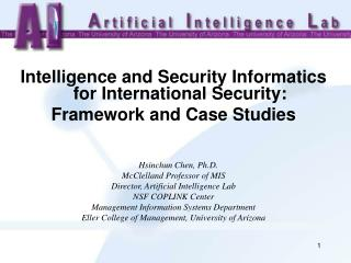 Intelligence and Security Informatics for International Security:  Framework and Case Studies