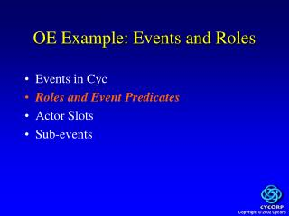 OE Example: Events and Roles