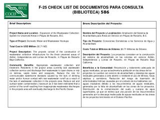 F-25 CHECK LIST DE DOCUMENTOS PARA CONSULTA  (BIBLIOTECA)  586