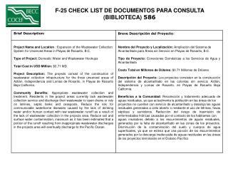 F-25 CHECK LIST DE DOCUMENTOS PARA CONSULTA  (BIBLIOTECA)  586