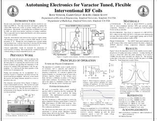 Autotuning Electronics for Varactor Tuned, Flexible Interventional RF Coils