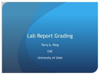 Lab Report Grading