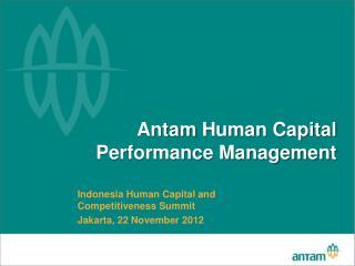 Antam  Human Capital Performance Management