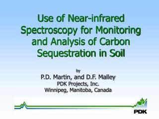 Use of Near-infrared Spectroscopy for Monitoring and Analysis of Carbon Sequestration in Soil