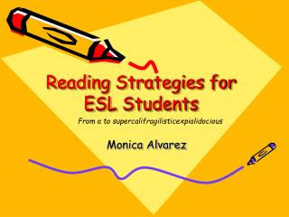 Reading Strategies for ESL Students