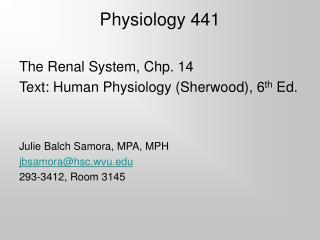 Physiology 441
