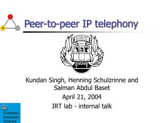 Peer-to-peer IP telephony