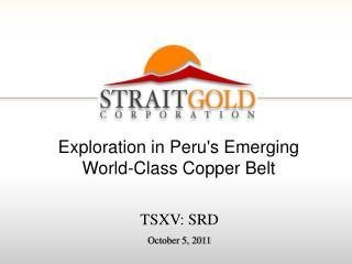 TSXV: SRD October 5, 2011