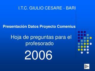 Presentación Datos Proyecto Comenius