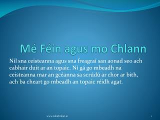 M  F in agus mo Chlann