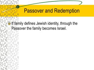 Passover and Redemption