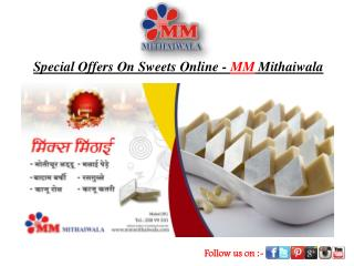 Special Offers On Sweets Online - MM Mithaiwala