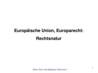 Europäische Union, Europarecht: Rechtsnatur