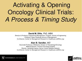 Activating  Opening Oncology Clinical Trials: A Process  Timing Study
