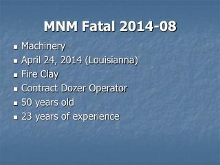 MNM Fatal 2014-08