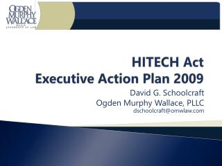 HITECH Act Executive Action Plan 2009