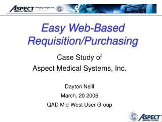 Easy Web-Based Requisition/Purchasing