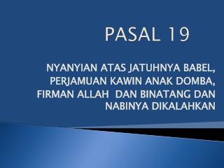 PASAL 19