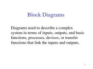 Block Diagrams