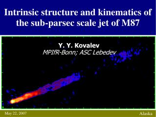 Intrinsic structure and kinematics of the sub-parsec scale jet of M87
