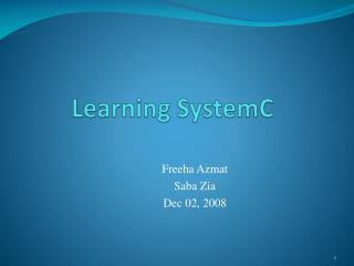 Learning  SystemC