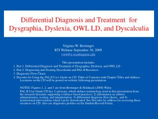 Differential Diagnosis and Treatment