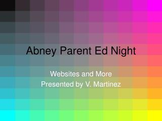 Abney Parent Ed Night