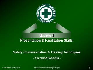 Module 4 Presentation & Facilitation Skills