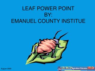 LEAF POWER POINT BY: EMANUEL COUNTY INSTITUE
