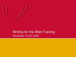 Writing for the Web Training