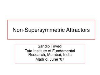 Non-Supersymmetric Attractors