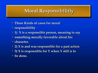 Moral Responsibilitly