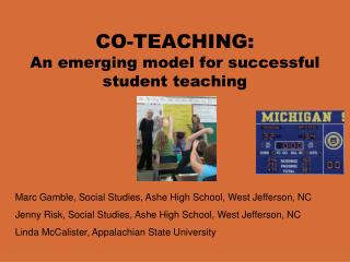 CO-TEACHING: An emerging model for successful student teaching