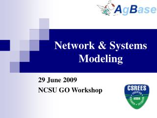 Network & Systems Modeling