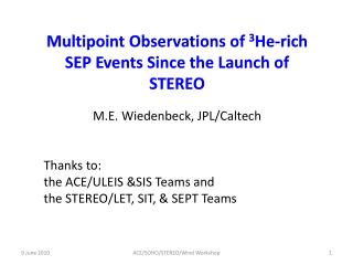 Multipoint Observations of  3 He-rich SEP Events Since the Launch of STEREO
