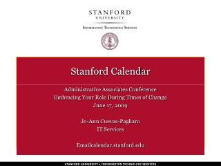 Stanford Calendar