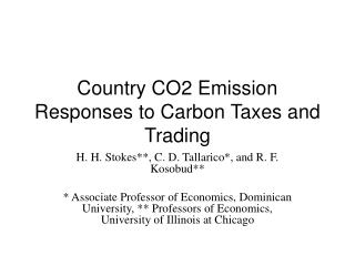 Country CO2 Emission Responses to Carbon Taxes and Trading
