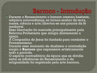 Barroco - Introdução